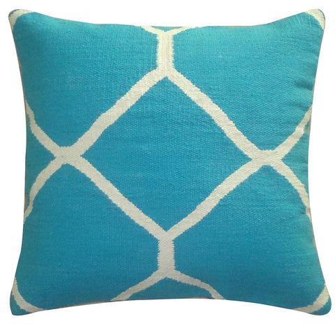 "Diamond Pillow 20"" x 20"", Turquoise"