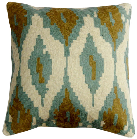 "Ikate Pillow 20"", Sage"