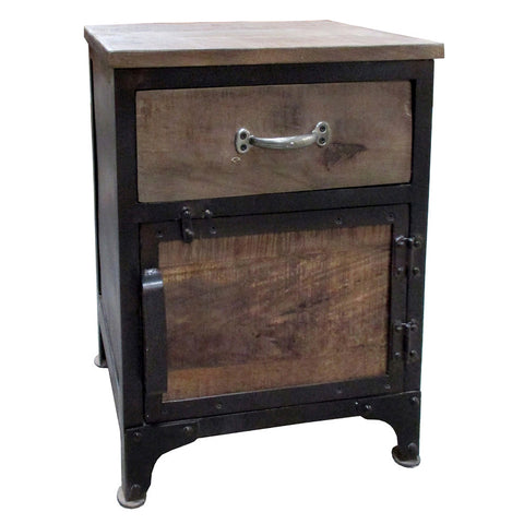 Rachel Industrial Side Table, Black