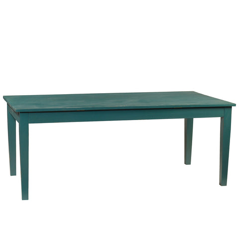 "Farmhouse Dining Table 78"", Ocean Green"