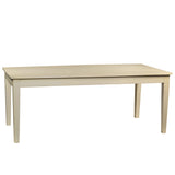 "Farmhouse Dining Table 78"", Cloud White"