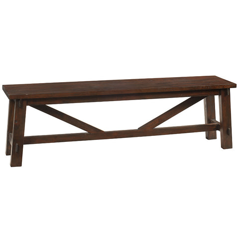 Rustic Bench, Light Mahogany