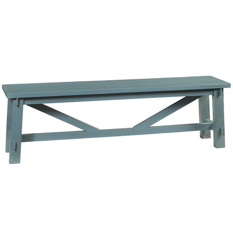 Rustic Bench, Teal
