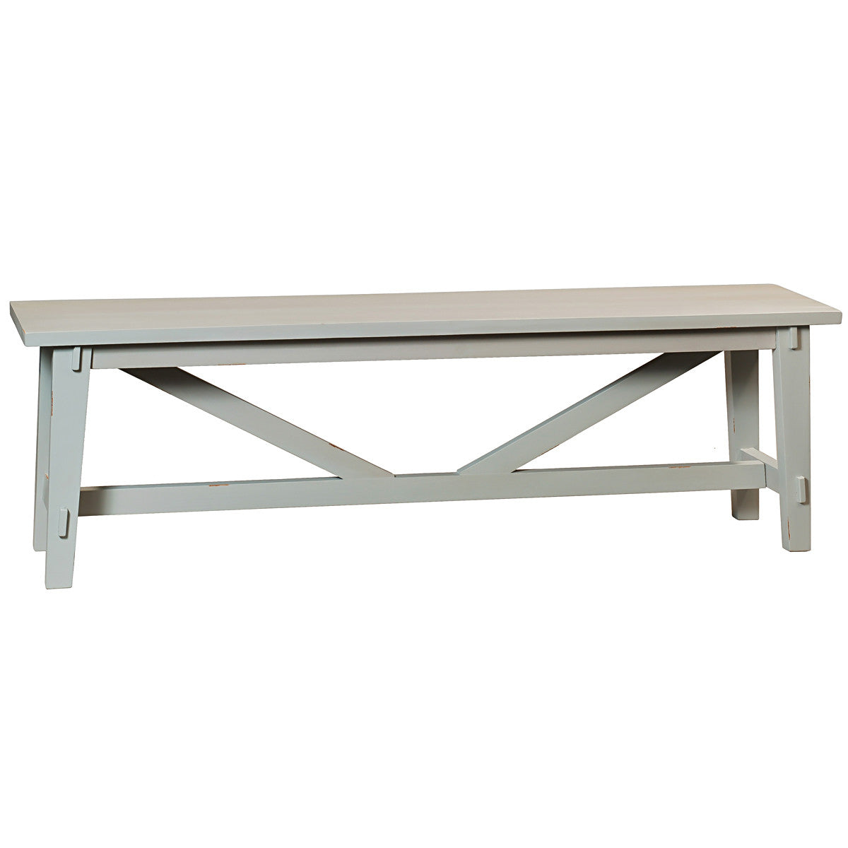 Rustic Bench Glacier Gray Wrightwood Furniture