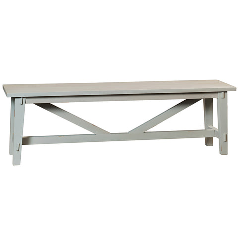 Rustic Bench, Glacier Gray