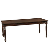 Meredith Turned Leg Dining Table, Walnut