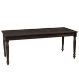 Meredith Turned Leg Dining Table, Espresso