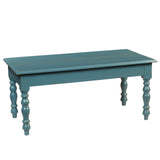 Miranda Turned Leg Coffee Table, Teal
