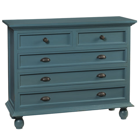 Callie 5 Drawer Chest, Teal