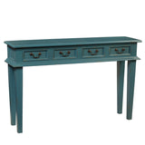 Adinda Four Drawer Console, Teal