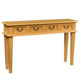 Adinda Four Drawer Console, Sunset Gold