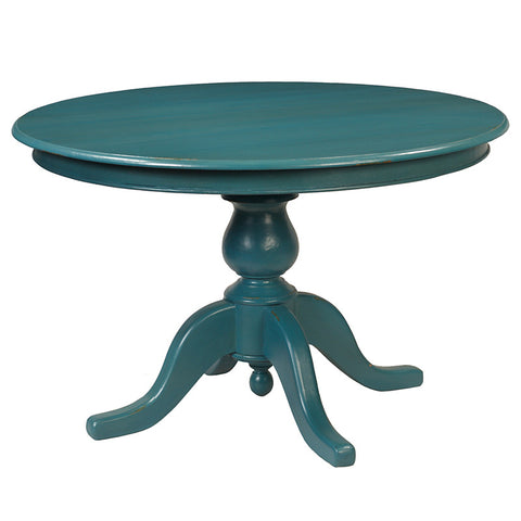 "Simon Round Dining Table 49"", Teal"