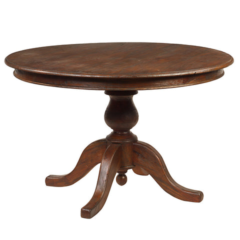 "Round Dining Table 49"", Light Mahogany"