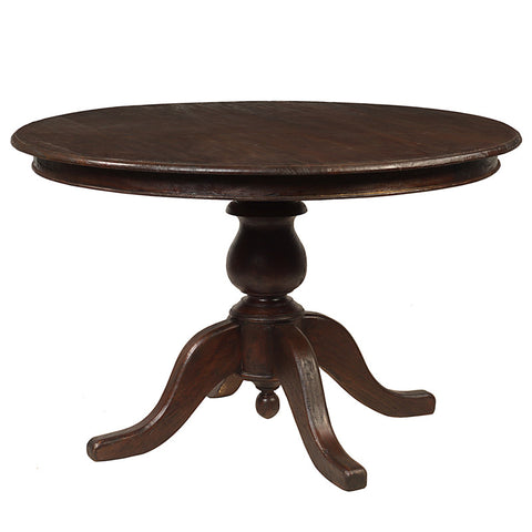 "Round Dining Table 49"", Dark Mahogany"