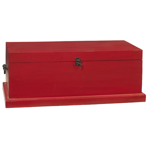 Solid Wood Trunk Small, True Red
