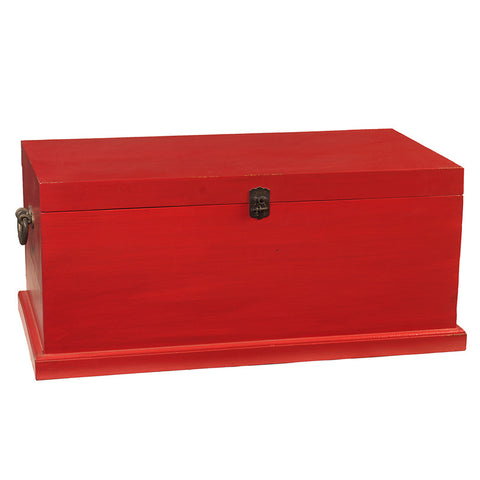 Solid Wood Trunk Medium, True Red