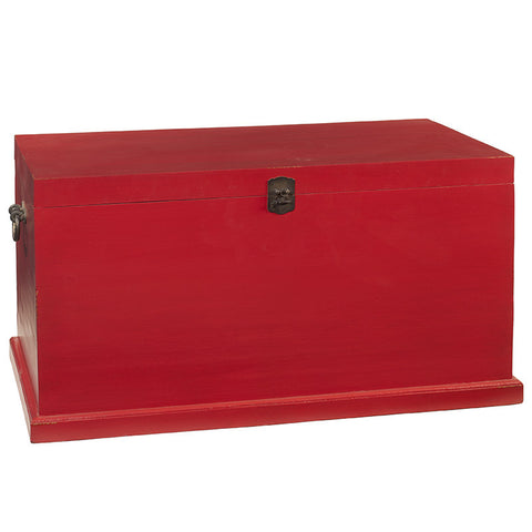 Solid Wood Trunk Large, True Red