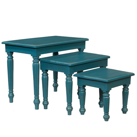 Nadya Nesting Tables, Teal