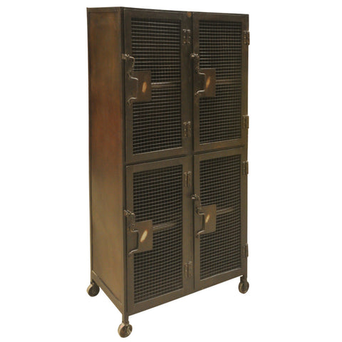 Carla 4 Door Locker, Black