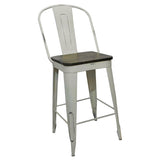 "Frenchy Counter Stool - 25"" seat, Off-White"