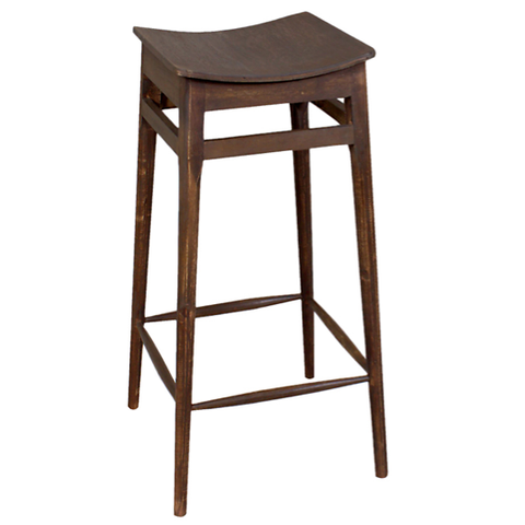 "Mod Bar Stool 30"", Dark Antique"