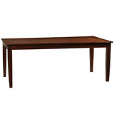 "Farmhouse Dining Table 72"", Dark Mahogany"