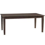 "Farmhouse Dining Table 72"", Espresso"