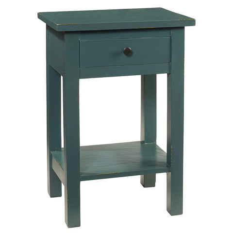 Tarakan End Table, Ocean Green