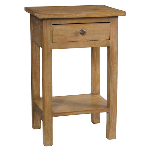 Tarakan End Table, Gray Wash