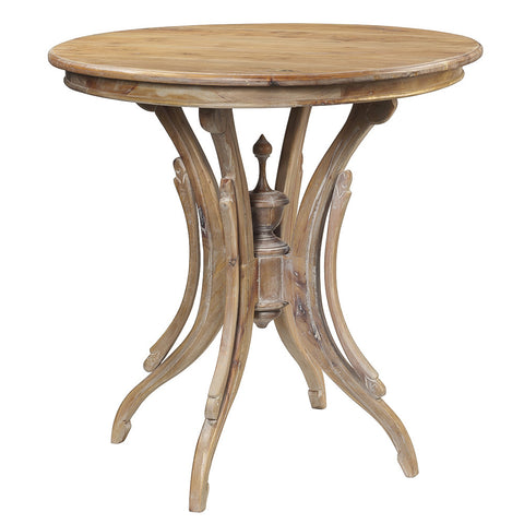 Clove Round Accent Table, Gray Wash