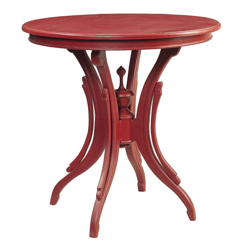 Clove Round Accent Table, True Red