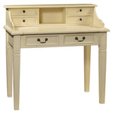 Sema Hand-Carved Piano Desk, Cloud White