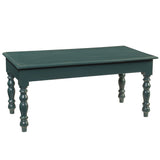 Miranda Turned Leg Coffee Table, Ocean Green