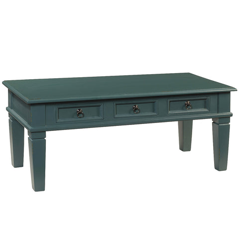 Hudson Tapered Leg Coffee Table, Ocean Green