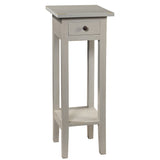 Sumatra Pedestal Table, Glacier Gray