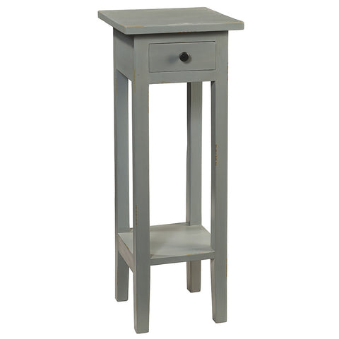 Sumatra Pedestal Table, Slate Blue