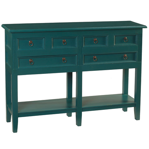 Hannah Console Table, Ocean Green