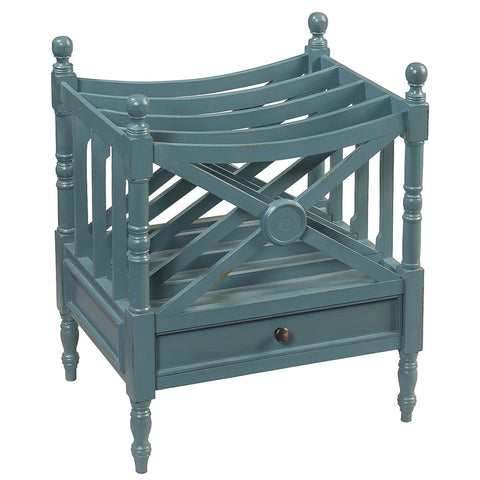 Amelia Magazine Rack, Teal