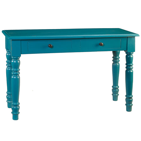 Miles Turned Leg Console, Teal