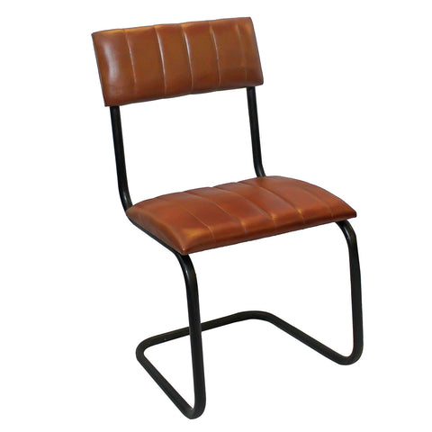 Brampton Iron & Leather Chair