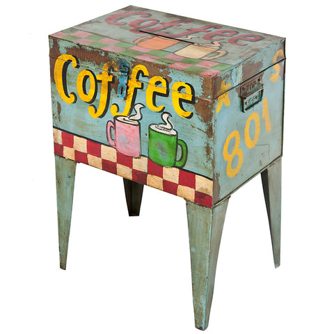 "Postmaster Box End Table, ""Coffee"""