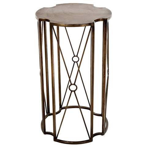 Pallas Iron Side Table, Bronze