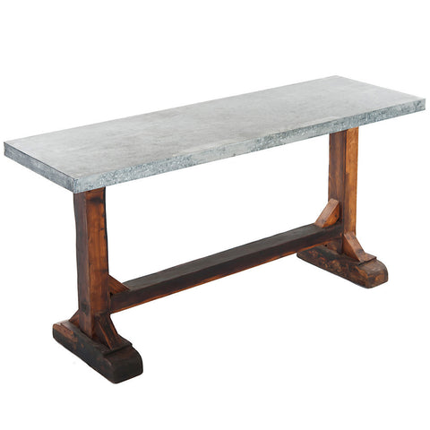 Metis Wood and Metal Console Table