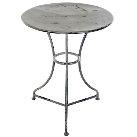 Leto Iron Side Table, Gray Wash