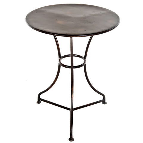Leto Iron Side Table, Antique Black