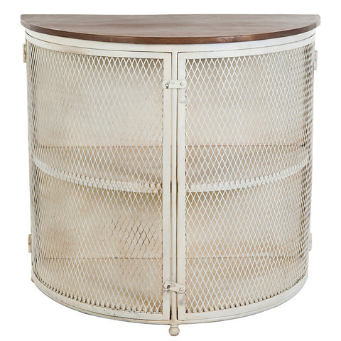 Metope Mesh Cabinet with Wood Top