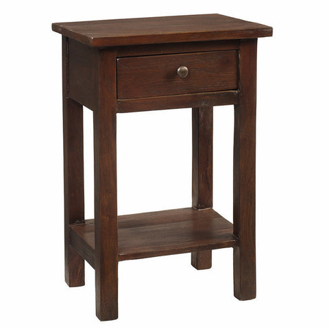 Tarakan End Table, Dark Mahogany