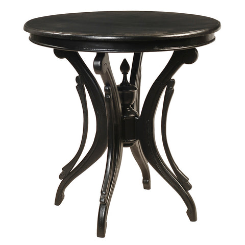 Clove Round Accent Table, Black