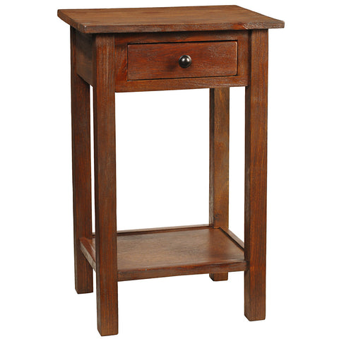 Griffin Side Table, Light Mahogany