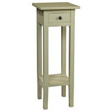 Sumatra Pedestal Table, Laurel Green